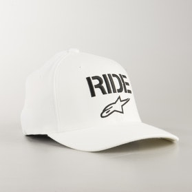 Alpinestars Ride Curve Flexfit Cap White-Black