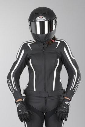 IXS Chara Ladies' Leather Jacket Black-White