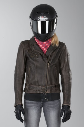 IXS Grecia Antique Ladies' Leather Jacket Brown