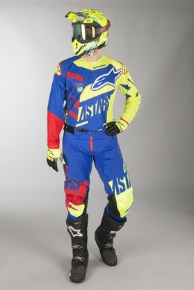 Alpinestars Techstar Screamer MX Clothes Blue-Yellow-Fluo Red