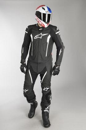 Alpinestars Missile Leather Tech-Air MC Suit Black-White 2-Piece