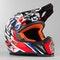 Motokrosová Helma LS2 MX437 Fast Strong Bílo-Červeno-Modrá