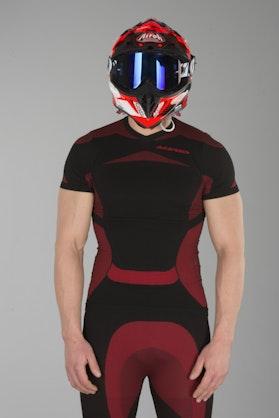 Podvlékací Dres Acerbis X-Body Summer SS Černá-Červená