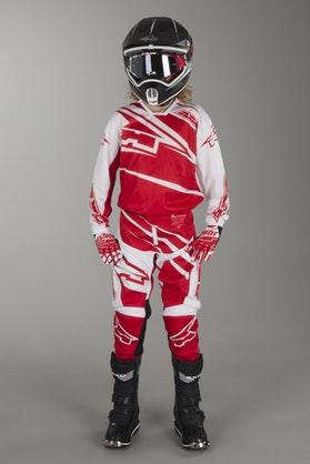 AXO SR Youth MX Kit White & Red