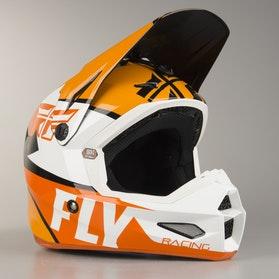 FLY Elite Guild Children's MX Helmet Orange-White-Black