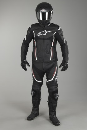 Alpinestars Motegi V2 2-Piece Leathers Black-White-Red