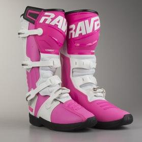 Crossové Boty Raven Combat Bílá-Růžová