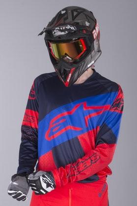 Bluza Cross Alpinestars Racer Tech Atomic Czerwono-Morskoniebieska