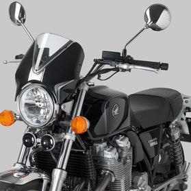 Owiewka Puig Retrovision Honda Czarna-Przezroczysta
