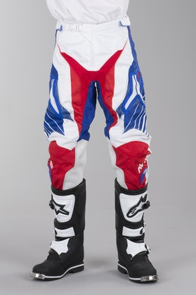 Alias A1 Motocross Trousers Red-White-Blue