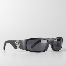 West Coast Choppers Smoky Sunglasses Matte Black