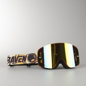 "Raven Edge ""Sparta"" MX Goggles Gold Mirror Double Lens"