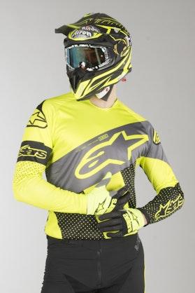 Bluza Alpinestars Racer Tech Atomic Czarno-Szaro-Żółto Fuorescencyjna