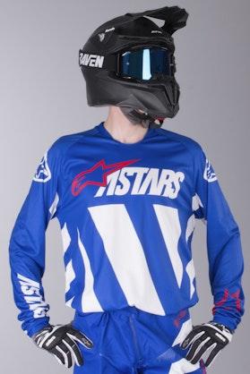 Komplet Cross Alpinestars Racer Braap Niebiesko-Biało-Czerwony