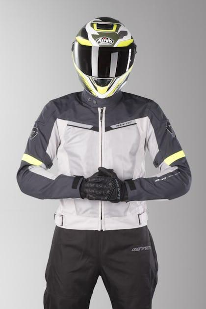 551fe323 MC jakke Revit Airwave 2 Sølv-Neon Gul - Nu 5% Rabat - XLmoto.dk