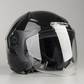 AXO Police Jet Helmet Black