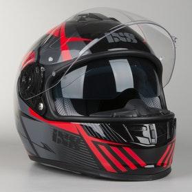 Kask IXS HX 444 Angle Czarno-Czerwony