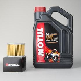 Olej W pełni syntetyczny 4L+filter oleju Motul 7100 4T 10W40