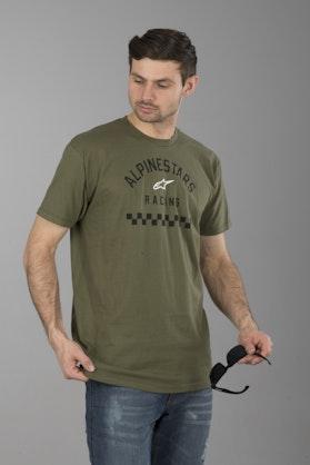 T-Shirt Alpinestars Front Tee Zielony Wojskowy