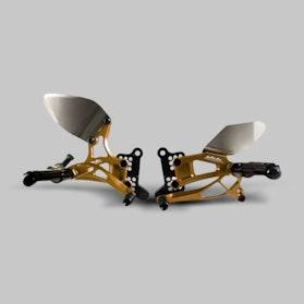 Zestaw Dźwigni Nożnych i Podnóżków Valter Moto Typ 2.5 Złoty