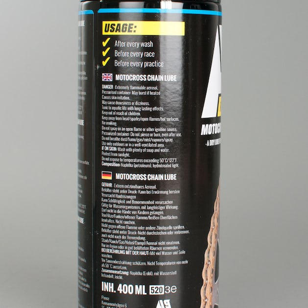 A9 Motocross Kædespray 2-pack (2 x 400ml)
