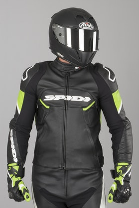 Ignite Leather Jacket Black-Green