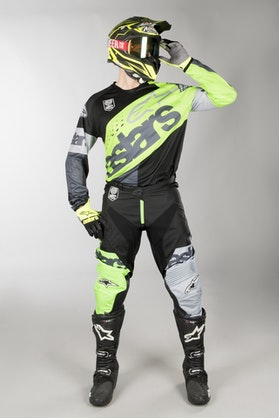 Alpinestars Racer Flagship MX Clothes Fluo Green-Anthracite-Black
