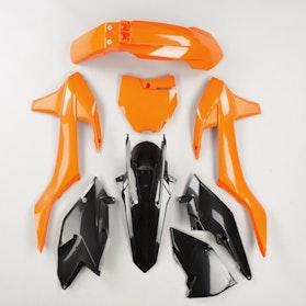 Komplet Plastików Polisport Enduro Pomarańczowo-Czarny
