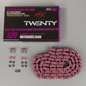 Řetěz Twenty Delta Seal 520 X-Ring Růžová