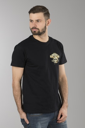 T-Shirt Lucky 13 Booze, Bikes & Broads Czarny