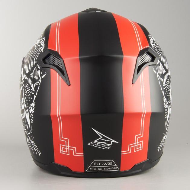 5544a852 AXO Corsair Integral Helmet - Black-Red - Get 20% off today - XLmoto.ie