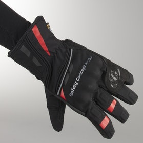 Rękawice Garibaldi Safety Primaloft Czarno-Czerwone