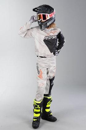 Alpinestars Racer Factory Kid's MX Clothes Gray-Black-Rust