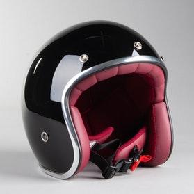 RXA Classic A-611C Open Helmet Black