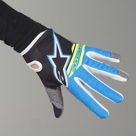 Crosshandsker Alpinestars Radar Flight Barn sort-Aqua-GulFluo