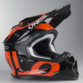 Motokrosová Helma O'Neal 2-Series Slick Černá-Oranžová