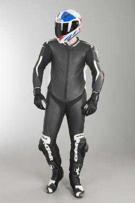Kombinezon Skórzany Spidi R. Piloti W. Pro Rob Czarno-Biały