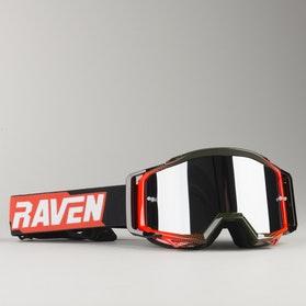 Gogle Cross Raven Sniper Crimson Echo Przyciemniane Lustrzane