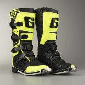 Motokrosové Boty Gearna SG-J Dětské Černá-Neonová Žlutá