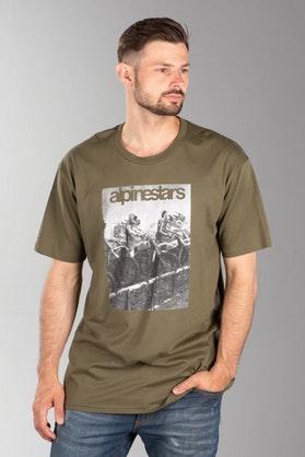 Koszulka Alpinestars Reminisce Zielony Militarny