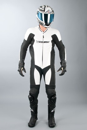 Course AlphaPro One-Piece Leathers - White