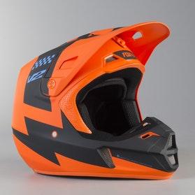 Kask Cross Fox V2 Mastar Pomarańczowy MX 18