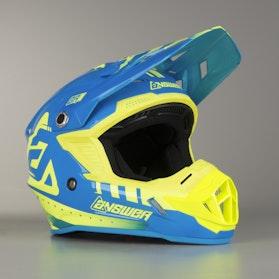 Crossová Helma Answer AR1 Žlutá-Modrá