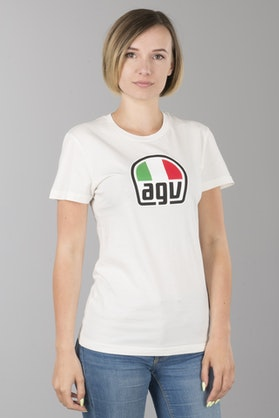 T-Shirt AGV Damski Biały
