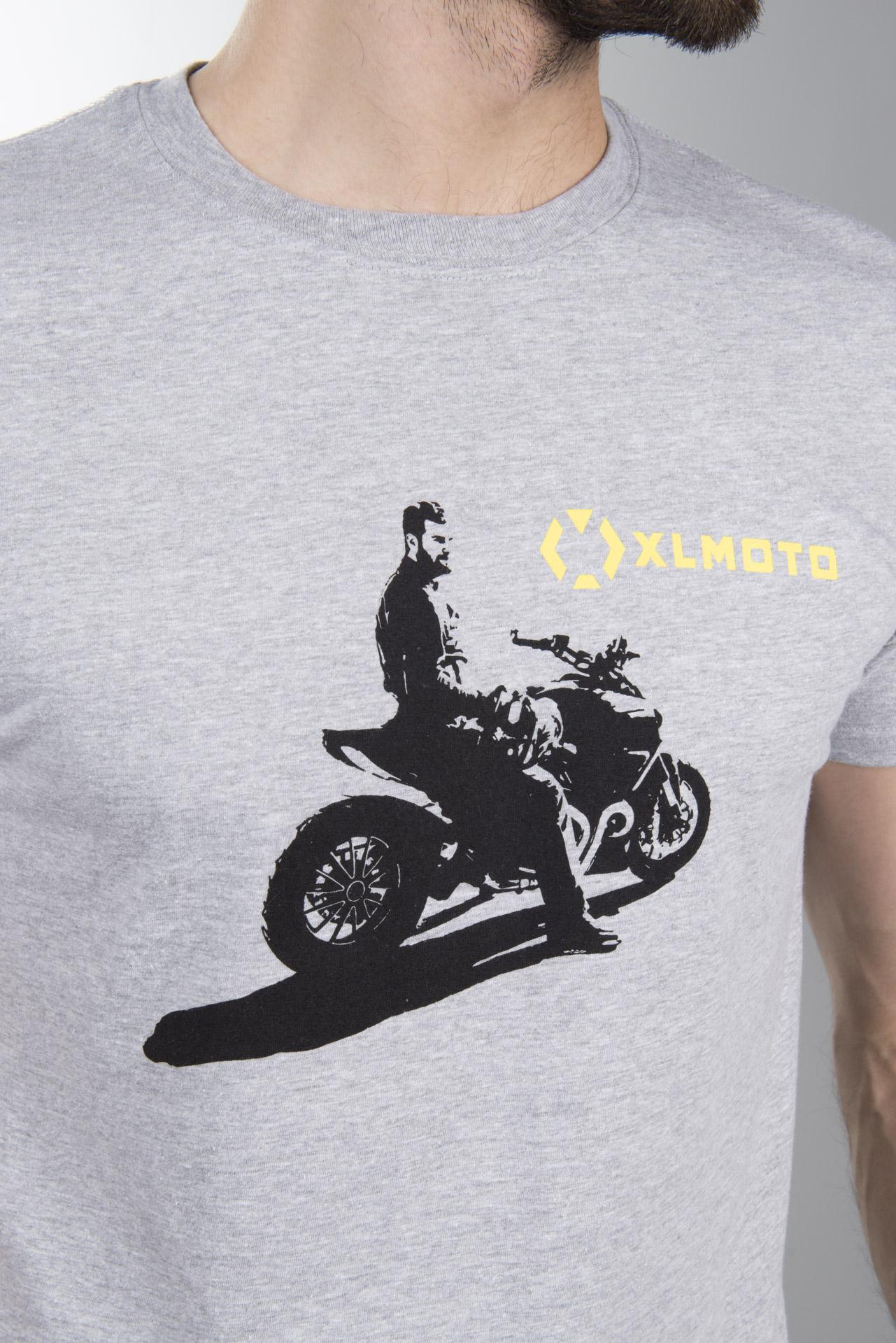 T Skjorte XLMOTO Rider Grå Nå 59% Du sparer XLmoto.no