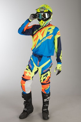 FXR Clutch Prime MX Clothing Blue-HiVis-Orange