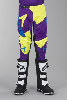 Alias A2 Bars Youth Motocross Pants Neon Yellow-Purple