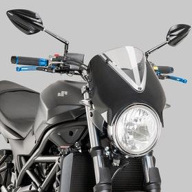 Owiewka Puig Retrovision Suzuki Czarna-Przydymiona
