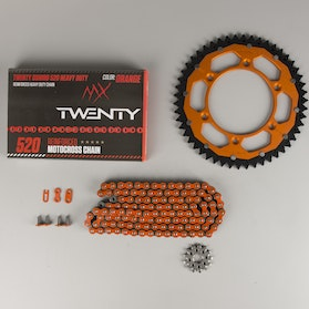 MX Twenty Delta/Interlink  Chain & Sprocket Kit Orange
