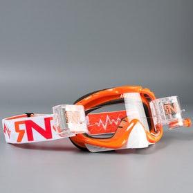 Gogle Rip N Roll Hybrid TVS, pomarańczowo-białe